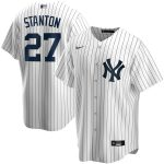 Nike Giancarlo Stanton New York Yankees White Home 2020 Replica Player Name Jersey