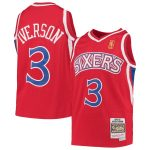 Mitchell & Ness Allen Iverson Philadelphia 76ers Youth Red 1996-97 Hardwood Classics Swingman Throwback Jersey