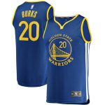 Fanatics Branded Alec Burks Golden State Warriors Youth Royal 2019/20 Fast Break Replica Player Jersey - Icon Edition