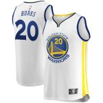 Fanatics Branded Alec Burks Golden State Warriors Youth White 2019/20 Fast Break Replica Player Jersey - Association Edition