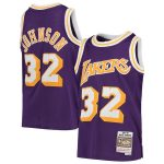 Mitchell & Ness Magic Johnson Los Angeles Lakers Youth Purple 1984-85 Hardwood Classics Swingman Throwback Jersey