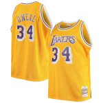 Mitchell & Ness Shaquille O'Neal Los Angeles Lakers Gold Big & Tall Hardwood Classics Jersey