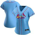 Nike St. Louis Cardinals Women's Light Blue Alternate 2020 Replica Team Jersey