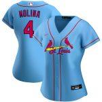 Nike Yadier Molina St. Louis Cardinals Women's Light Blue Alternate 2020 Replica Player Jersey