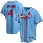 Nike Yadier Molina St. Louis Cardinals Light Blue Alternate 2020 Replica Player Jersey