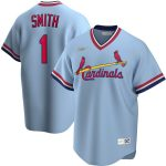Nike Ozzie Smith St. Louis Cardinals Light Blue Road Cooperstown Collection Player Jersey