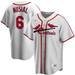 Nike Stan Musial St. Louis Cardinals White Home Cooperstown Collection Player Jersey