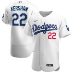Nike Clayton Kershaw Los Angeles Dodgers White Home 2020 Authentic Player Jersey