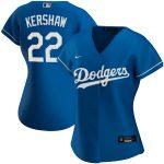 Nike Clayton Kershaw Los Angeles Dodgers Women's Royal Alternate 2020 Replica Player Jersey