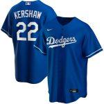 Nike Clayton Kershaw Los Angeles Dodgers Royal Alternate 2020 Replica Player Jersey