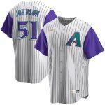 Nike Randy Johnson Arizona Diamondbacks Cream/Purple Alternate Cooperstown Collection Player Jersey