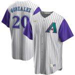 Nike Luis Gonzalez Arizona Diamondbacks Cream/Purple Alternate Cooperstown Collection Player Jersey