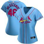 Nike Paul Goldschmidt St. Louis Cardinals Women's Light Blue Alternate 2020 Replica Player Jersey