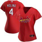 Nike Yadier Molina St. Louis Cardinals Women's Red Alternate 2020 Replica Player Jersey