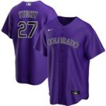 Nike Trevor Story Colorado Rockies Purple Alternate 2020 Replica Player Jersey