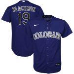 Nike Charlie Blackmon Colorado Rockies Youth Purple Alternate 2020 Replica Player Jersey