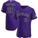 Nike Nolan Arenado Colorado Rockies Purple Alternate 2020 Authentic Player Jersey
