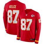 Nike Travis Kelce Kansas City Chiefs Red Therma Long Sleeve Player Jersey