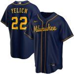 Nike Christian Yelich Milwaukee Brewers Navy Alternate 2020 Replica Player Jersey