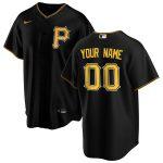 Nike Pittsburgh Pirates Black Alternate 2020 Replica Custom Jersey