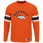 Majestic Denver Broncos Orange Power Hit II Long Sleeve T-Shirt