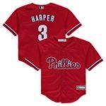Bryce Harper Philadelphia Phillies Preschool Red Replica Player Jersey