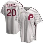 Nike Mike Schmidt Philadelphia Phillies White Home Cooperstown Collection Player Jersey