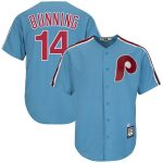 Majestic Jim Bunning Philadelphia Phillies Light Blue Cooperstown Collection Cool Base Player Jersey