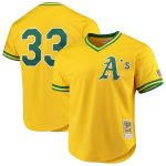 Mitchell & Ness Jose Canseco Oakland Athletics Gold Cooperstown Collection Mesh Batting Practice Jersey