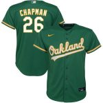 Nike Matt Chapman Oakland Athletics Youth Kelly Green Alternate 2020 Replica Player Jersey