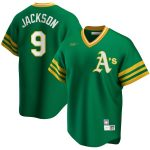 Nike Reggie Jackson Oakland Athletics Kelly Green Road Cooperstown Collection Player Jersey