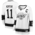 Fanatics Branded Anze Kopitar Los Angeles Kings Women's White Heritage Premier Breakaway Jersey