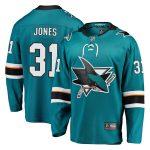 Fanatics Branded Martin Jones San Jose Sharks Youth Teal Breakaway Player Jersey