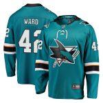 Fanatics Branded Joel Ward San Jose Sharks Youth Teal Breakaway Player Jersey