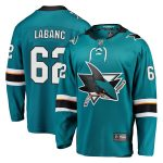 Fanatics Branded Kevin Labanc San Jose Sharks Youth Teal Breakaway Player Jersey