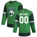adidas Florida Panthers Green 2020 St. Patrick's Day Custom Jersey