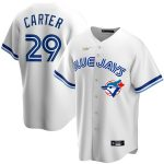 Nike Joe Carter Toronto Blue Jays White Home Cooperstown Collection Player Jersey