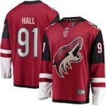 Fanatics Branded Taylor Hall Arizona Coyotes Garnet Home Premier Breakaway Player Jersey