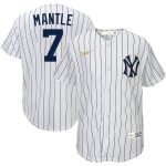 Nike Mickey Mantle New York Yankees Youth White Home Cooperstown Collection Player Jersey