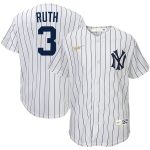 Nike Babe Ruth New York Yankees Youth White Home Cooperstown Collection Player Jersey