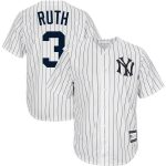 Babe Ruth New York Yankees White Big & Tall Home Cooperstown Collection Replica Player Jersey