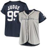 Aaron Judge New York Yankees Women's Gray/Navy Plus Size Jersey