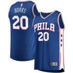 Fanatics Branded Alec Burks Philadelphia 76ers Royal Fast Break Road Player Jersey