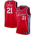 Nike Joel Embiid Philadelphia 76ers Red Swingman Jersey - Statement Edition