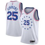 Nike Ben Simmons Philadelphia 76ers Youth White 2018/19 Swingman Jersey - Earned Edition