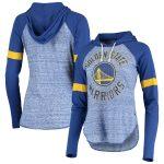 Touch Golden State Warriors Women's Royal Season Opener Raglan Hoodie Long Sleeve T-Shirt