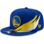 New Era Golden State Warriors Royal Brush 9FIFTY Adjustable Snapback Hat