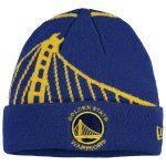 New Era Golden State Warriors Youth Royal Logo Whiz Cuffed Knit Hat