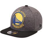 New Era Golden State Warriors Heathered Graphite/Black Huge Logo 9FIFTY Adjustable Snapback Hat