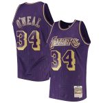 Mitchell & Ness Shaquille O'Neal Los Angeles Lakers Purple 1997-98 Hardwood Classics Chinese New Year Swingman Jersey